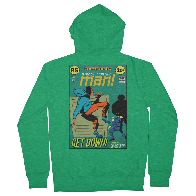 Street Fighting Man Men's Zip-Up Hoody by Krishna Designs