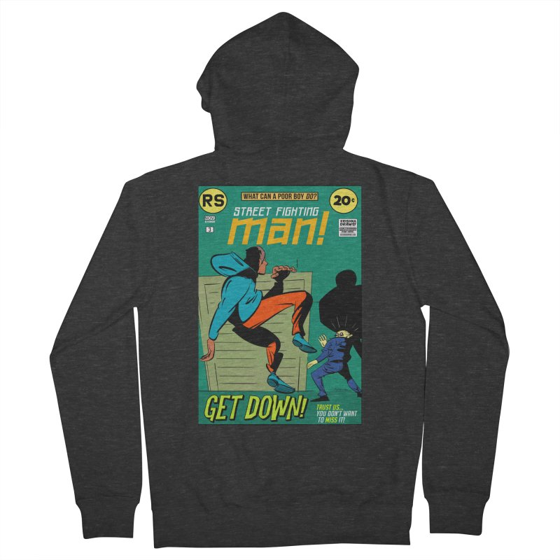 Street Fighting Man Men's French Terry Zip-Up Hoody by Krishna Designs