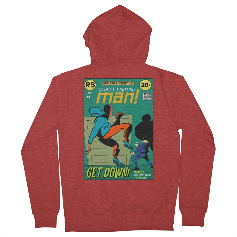 Street Fighting Man Men's Zip-Up Hoody by Krishna Designs