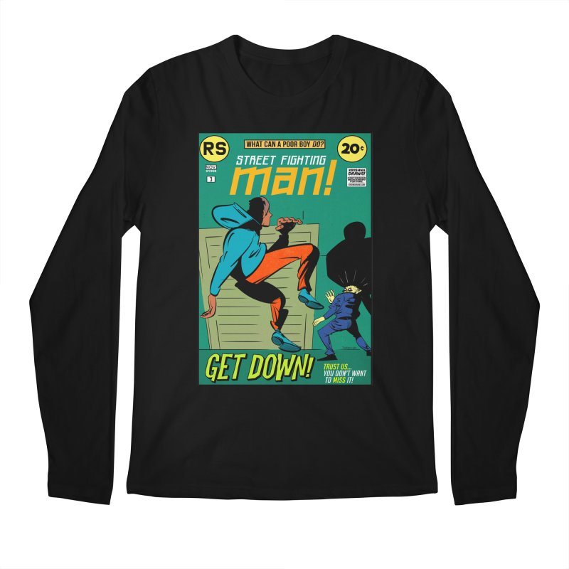 Street Fighting Man Men's Regular Longsleeve T-Shirt by Krishna Designs
