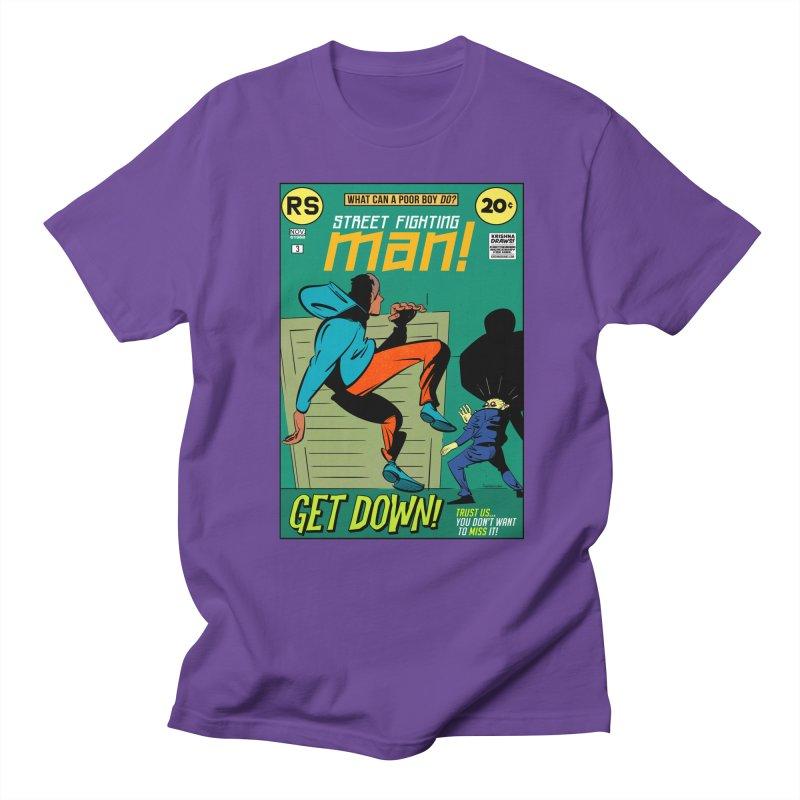 Street Fighting Man Men's Regular T-Shirt by Krishna Designs