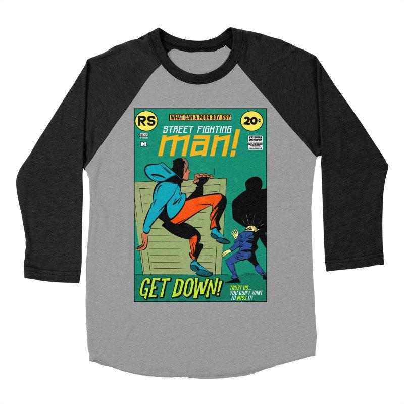 Street Fighting Man Men's Baseball Triblend Longsleeve T-Shirt by Krishna Designs