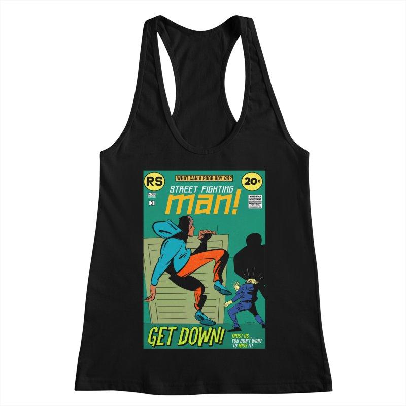 Street Fighting Man Women's Tank by Krishna Designs