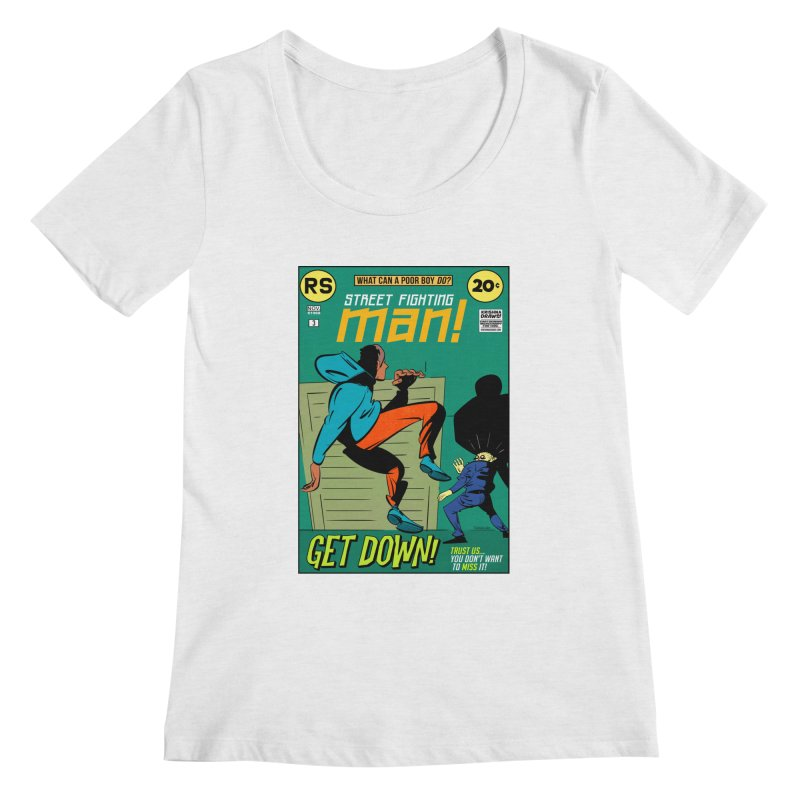 Street Fighting Man Women's Scoop Neck by Krishna Designs