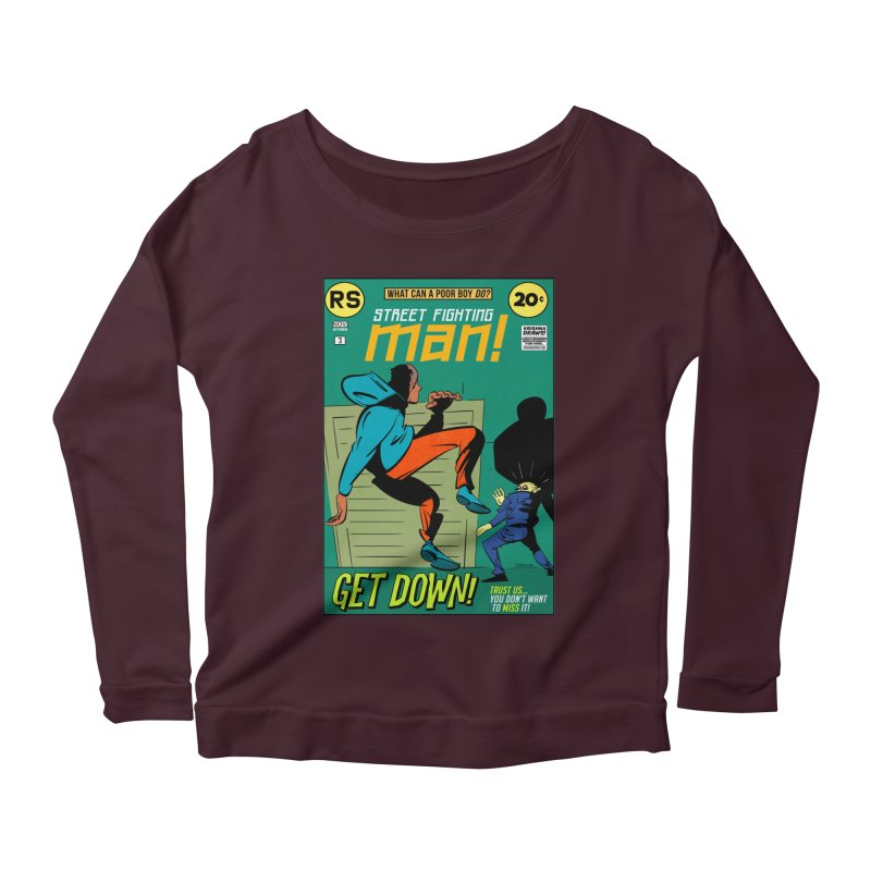 Street Fighting Man Women's Scoop Neck Longsleeve T-Shirt by Krishna Designs