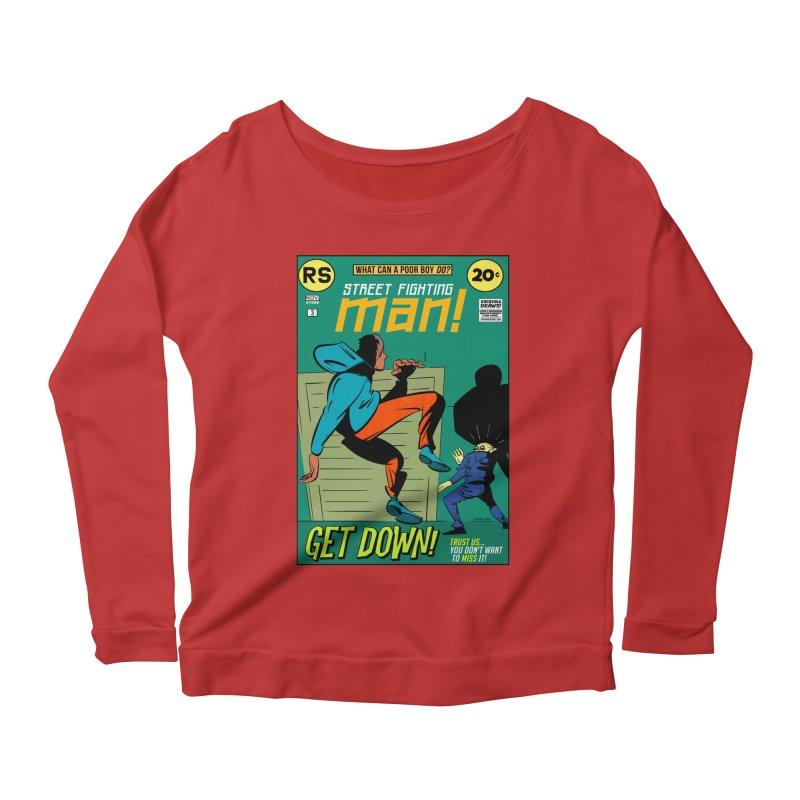 Street Fighting Man Women's Scoop Neck Longsleeve T-Shirt by Krishna Designs