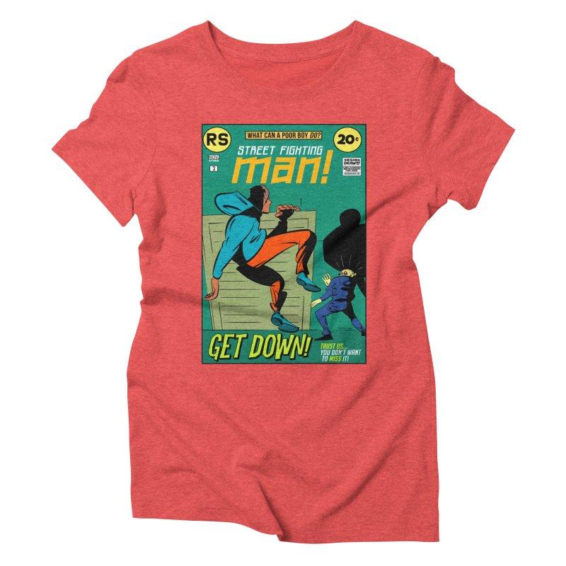 Street Fighting Man Women's Triblend T-Shirt by Krishna Designs