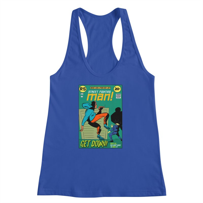Street Fighting Man Women's Racerback Tank by Krishna Designs