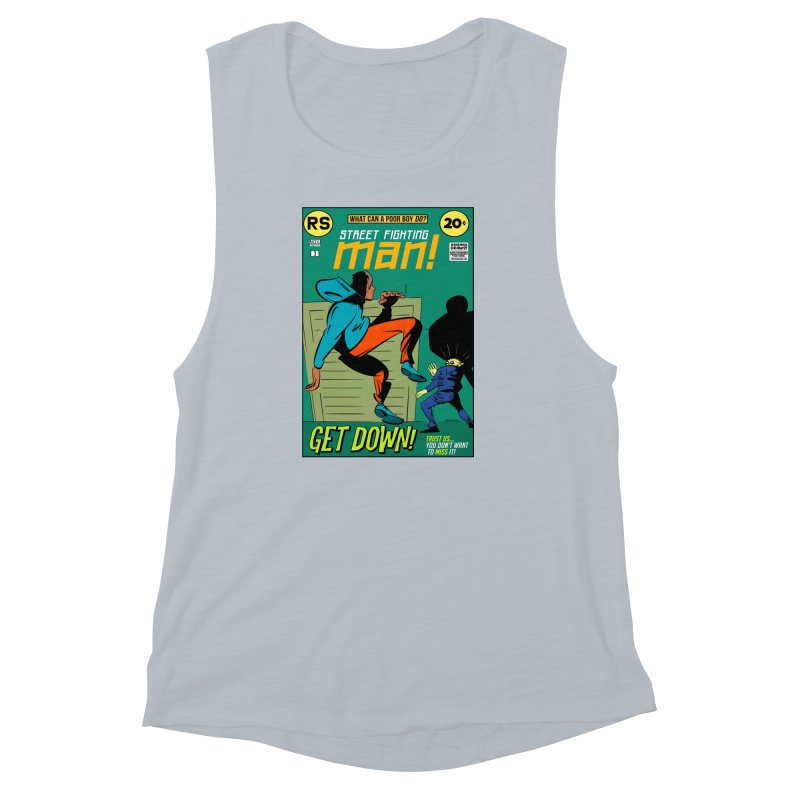 Street Fighting Man Women's Muscle Tank by Krishna Designs