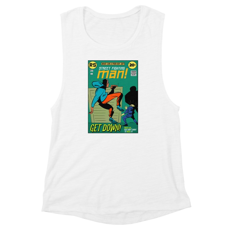 Street Fighting Man Women's Muscle Tank by Krishna Designs