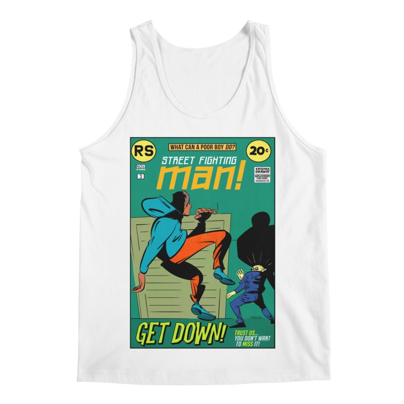 Street Fighting Man Men's Regular Tank by Krishna Designs