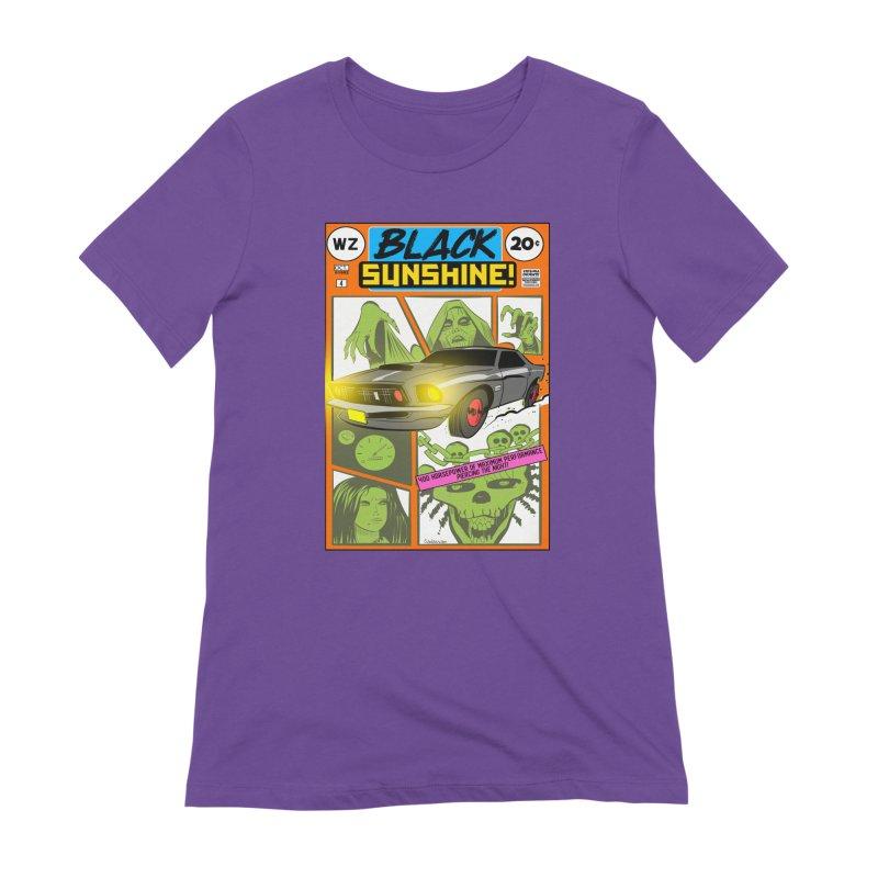 Black Sunshine Women's Extra Soft T-Shirt by Krishna Designs