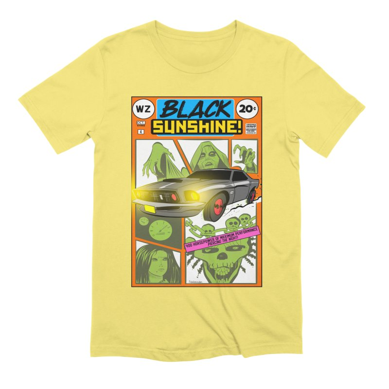 Black Sunshine Men's Extra Soft T-Shirt by Krishna Designs