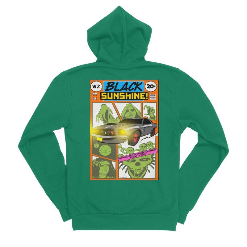 Black Sunshine Men's Sponge Fleece Zip-Up Hoody by Krishna Designs
