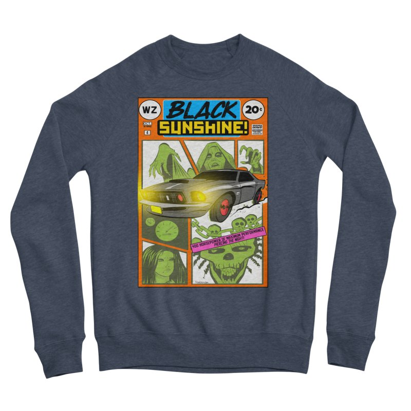 Black Sunshine Men's Sponge Fleece Sweatshirt by Krishna Designs