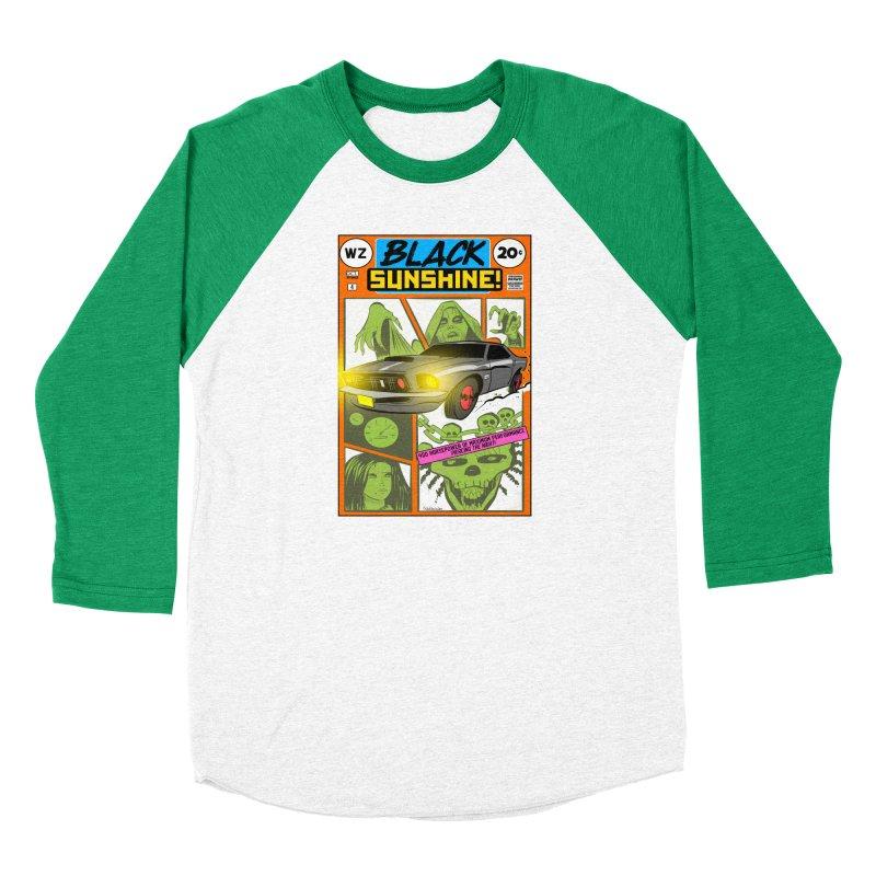 Black Sunshine Women's Baseball Triblend Longsleeve T-Shirt by Krishna Designs