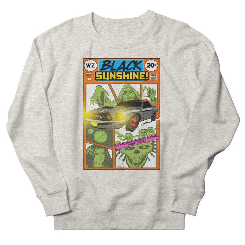 Black Sunshine Men's French Terry Sweatshirt by Krishna Designs