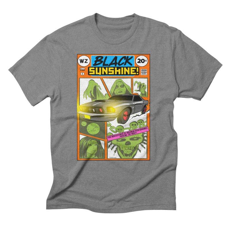 Black Sunshine Men's Triblend T-Shirt by Krishna Designs