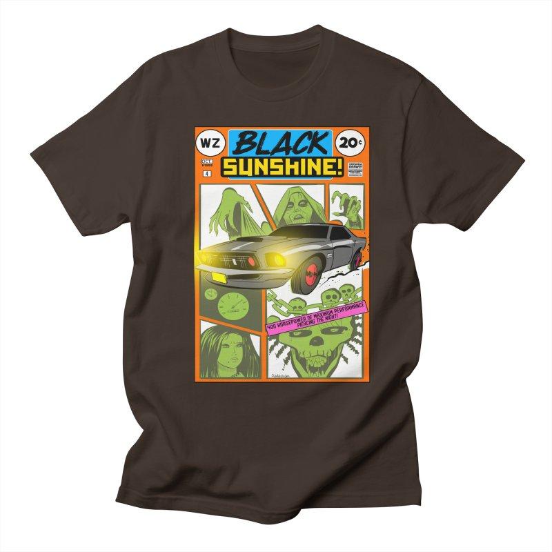 Black Sunshine Men's Regular T-Shirt by Krishna Designs