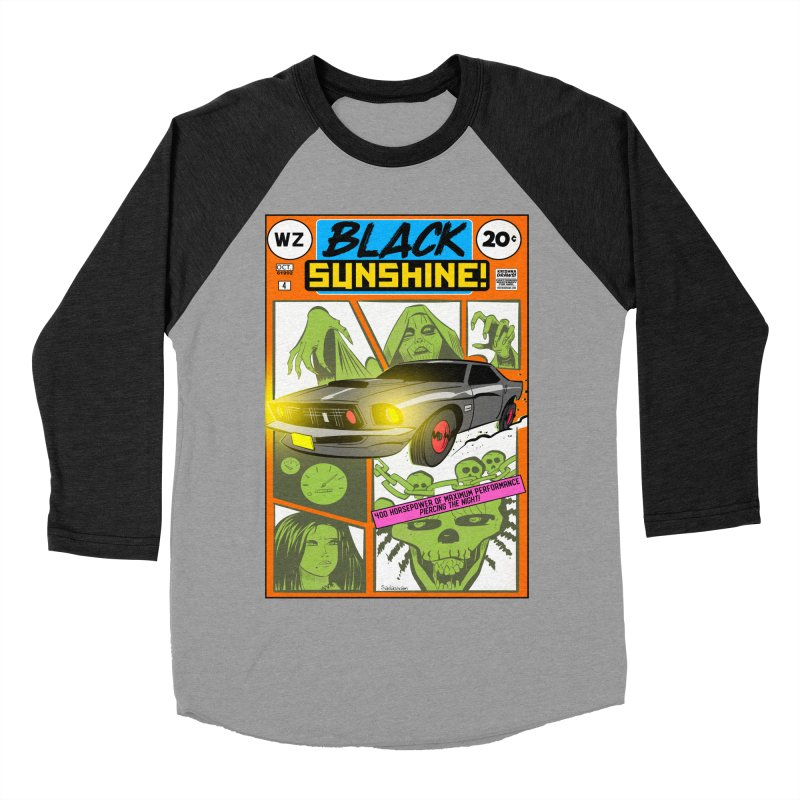 Black Sunshine Women's Baseball Triblend Longsleeve T-Shirt by Krishna Designs