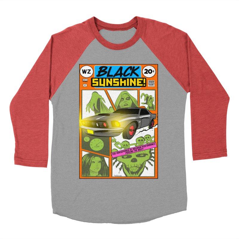 Black Sunshine Men's Baseball Triblend Longsleeve T-Shirt by Krishna Designs
