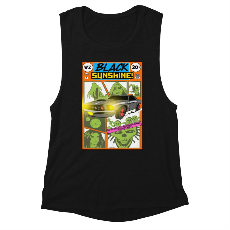 Black Sunshine Women's Tank by Krishna Designs