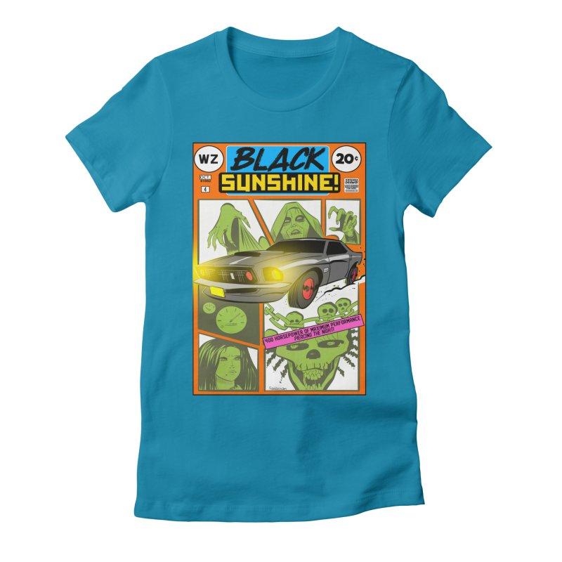 Black Sunshine Women's Fitted T-Shirt by Krishna Designs