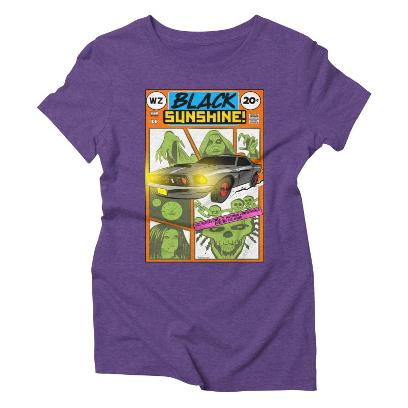 Black Sunshine Women's Triblend T-Shirt by Krishna Designs