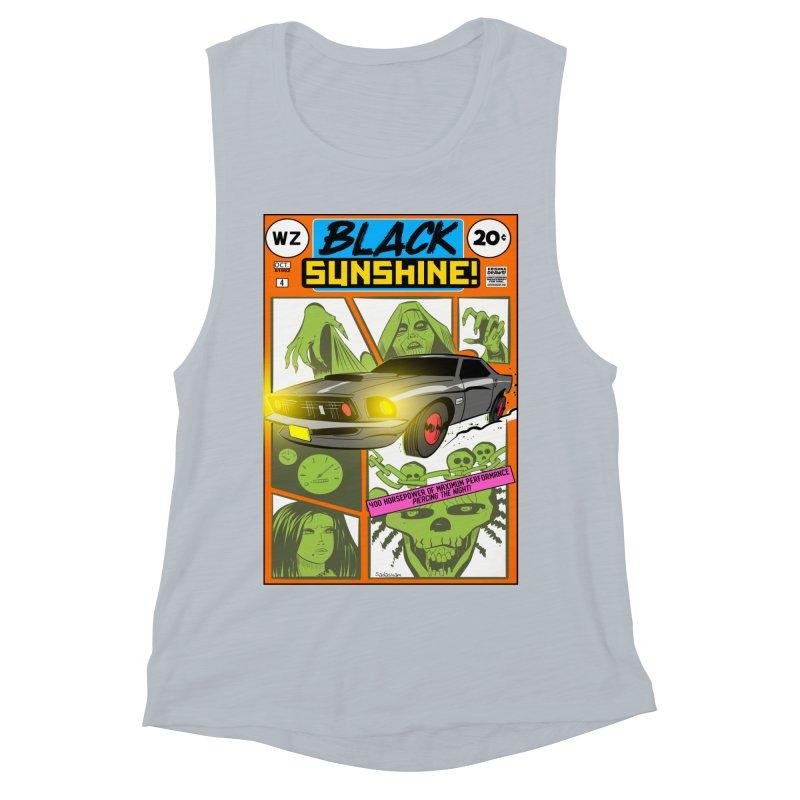 Black Sunshine Women's Muscle Tank by Krishna Designs
