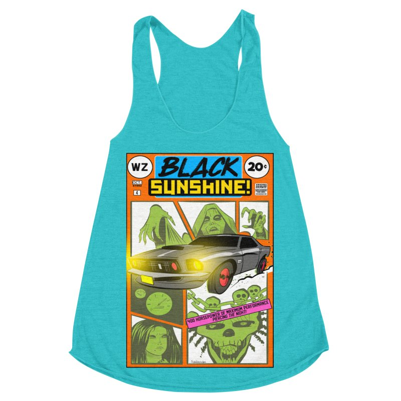 Black Sunshine Women's Racerback Triblend Tank by Krishna Designs