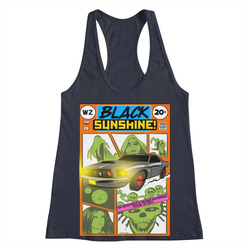 Black Sunshine Women's Racerback Tank by Krishna Designs