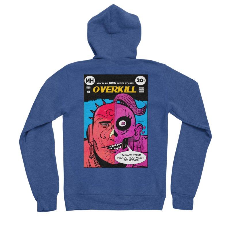 Overkill Men's Sponge Fleece Zip-Up Hoody by Krishna Designs