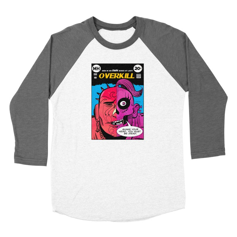 Overkill Men's Baseball Triblend Longsleeve T-Shirt by Krishna Designs