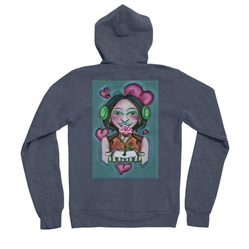 Love Women's Sponge Fleece Zip-Up Hoody by peacewild's Artist Shop