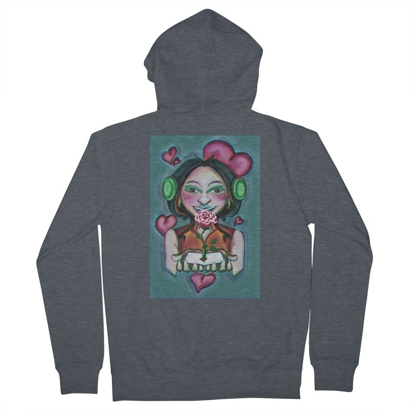 Love Women's French Terry Zip-Up Hoody by peacewild's Artist Shop
