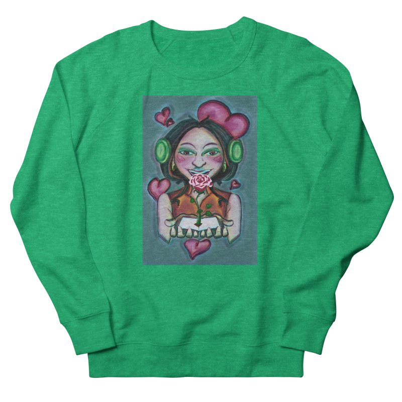 Love Women's French Terry Sweatshirt by peacewild's Artist Shop