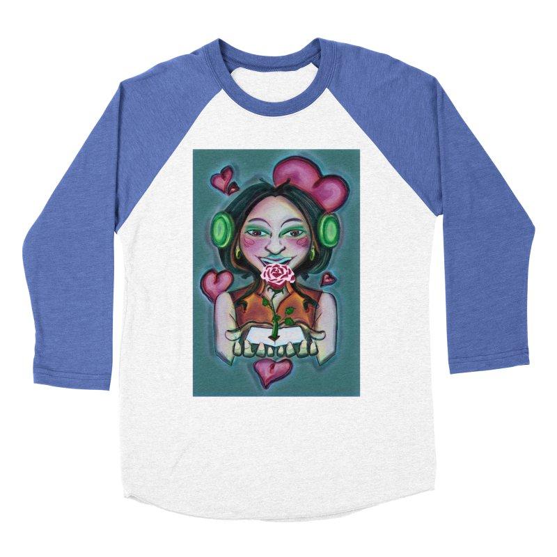 Love Women's Baseball Triblend Longsleeve T-Shirt by peacewild's Artist Shop