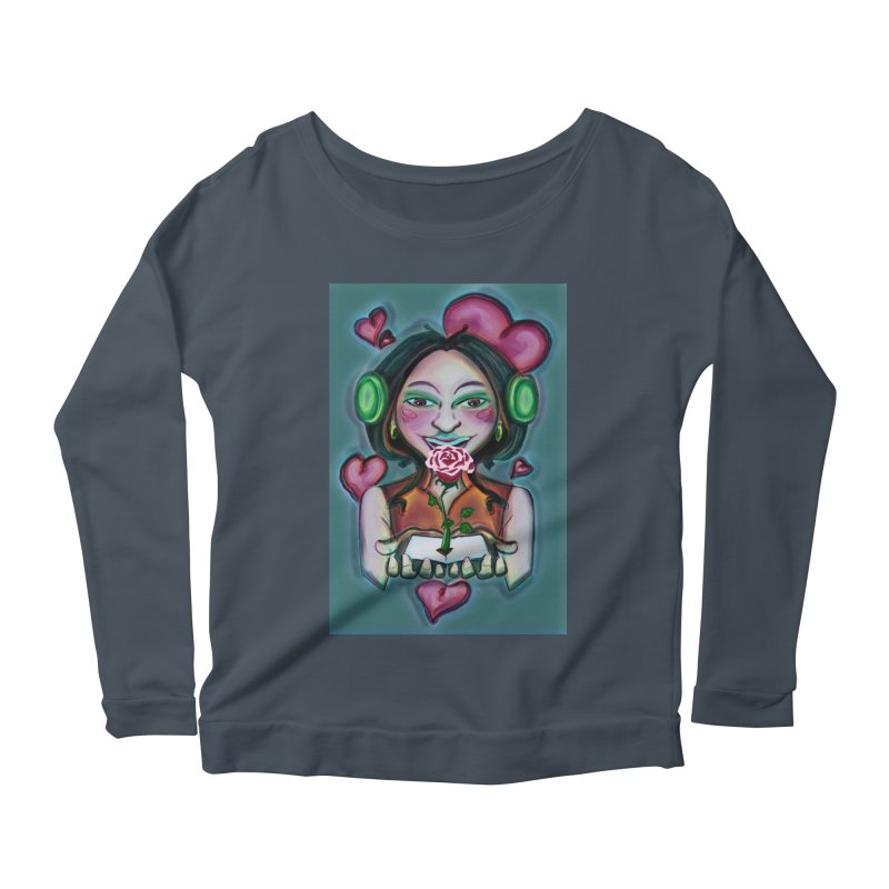 Love Women's Scoop Neck Longsleeve T-Shirt by peacewild's Artist Shop