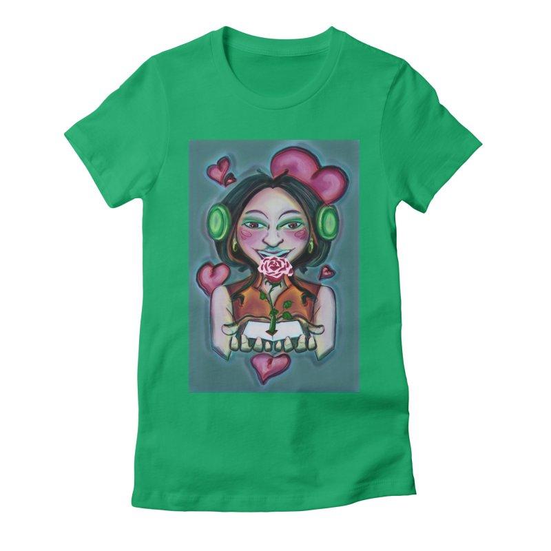 Love Women's Fitted T-Shirt by peacewild's Artist Shop