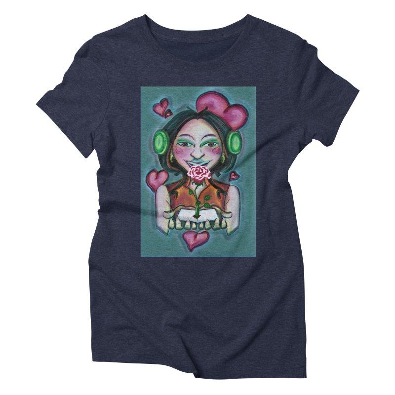 Love Women's Triblend T-Shirt by peacewild's Artist Shop