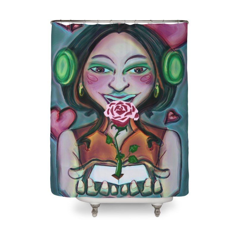 Love Home Shower Curtain by peacewild's Artist Shop