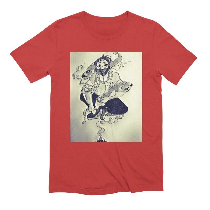 Smoker King Men's Extra Soft T-Shirt by peacewild's Artist Shop