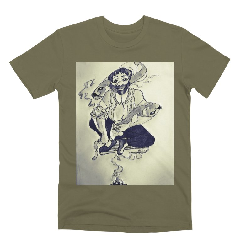 Smoker King Men's Premium T-Shirt by peacewild's Artist Shop