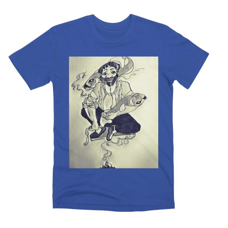 Smoker King Men's Premium T-Shirt by peacewild's Artist Shop
