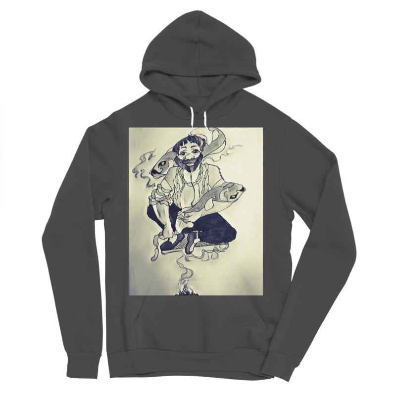 Smoker King Men's Sponge Fleece Pullover Hoody by peacewild's Artist Shop