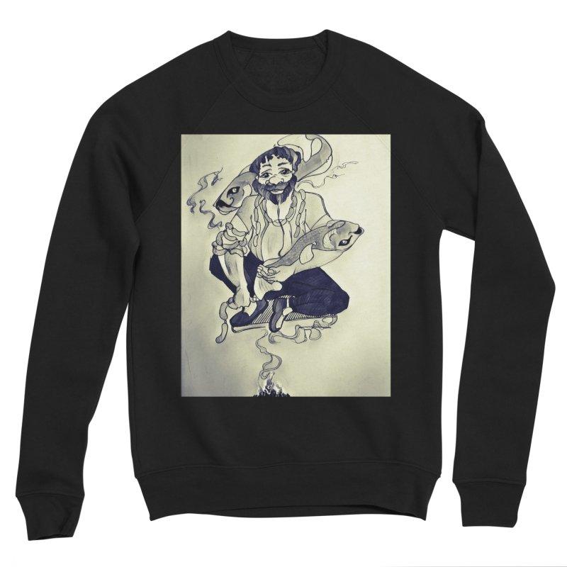 Smoker King Men's Sponge Fleece Sweatshirt by peacewild's Artist Shop
