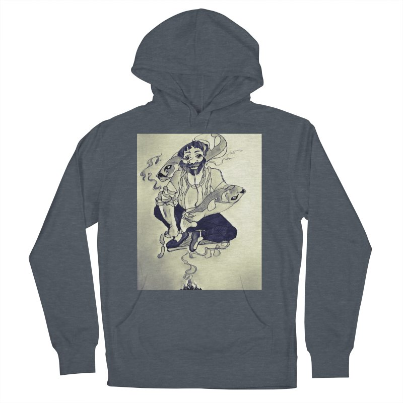 Smoker King Men's French Terry Pullover Hoody by peacewild's Artist Shop