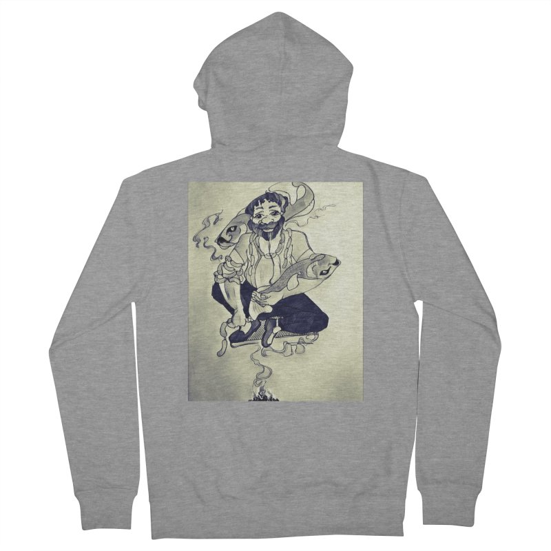 Smoker King Men's French Terry Zip-Up Hoody by peacewild's Artist Shop