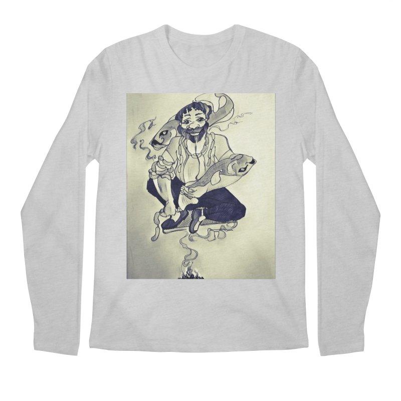 Smoker King Men's Regular Longsleeve T-Shirt by peacewild's Artist Shop