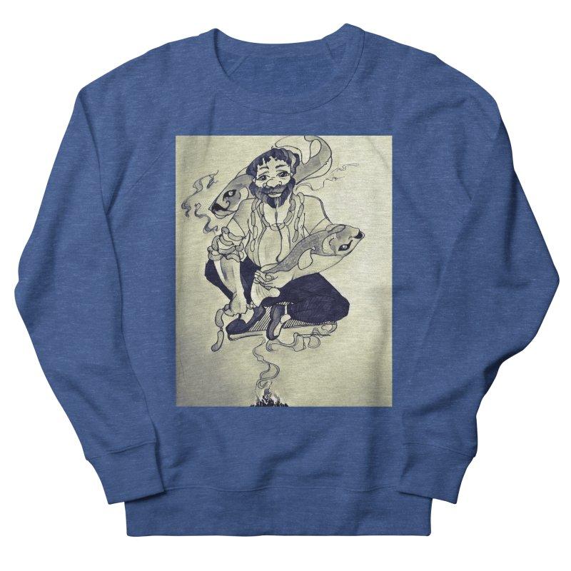 Smoker King Men's French Terry Sweatshirt by peacewild's Artist Shop
